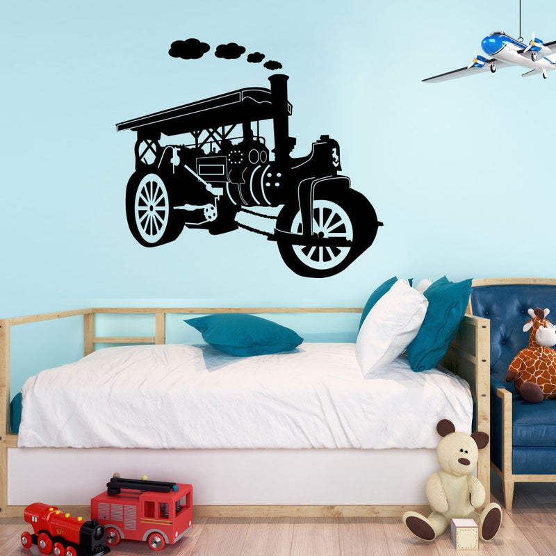 Steam Roller Engine Wall Sticker A86