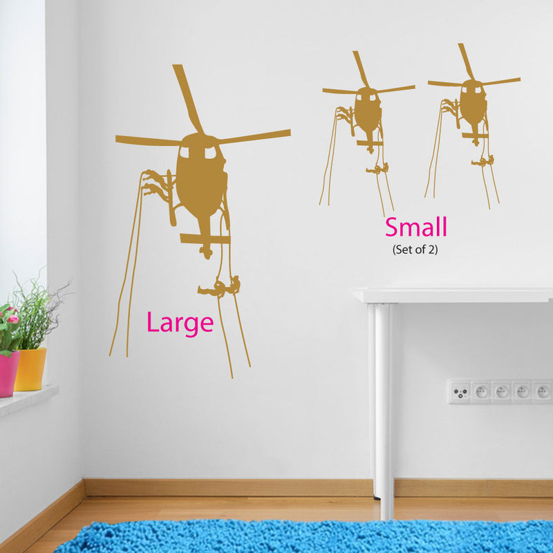 Helicopter Action Wall Sticker A100