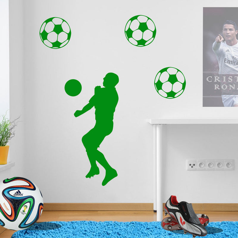 Football Player Wall Transfer A77