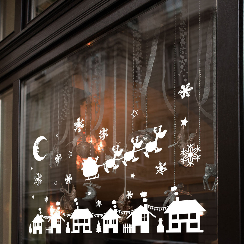 Christmas Xmas Display Shop Window Wall Decorations Decals Window Stickers A283