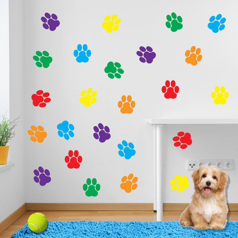 Stickers Dog Prints Paw Feet Children's Nursery Vinyl Art Decal Decor New B5