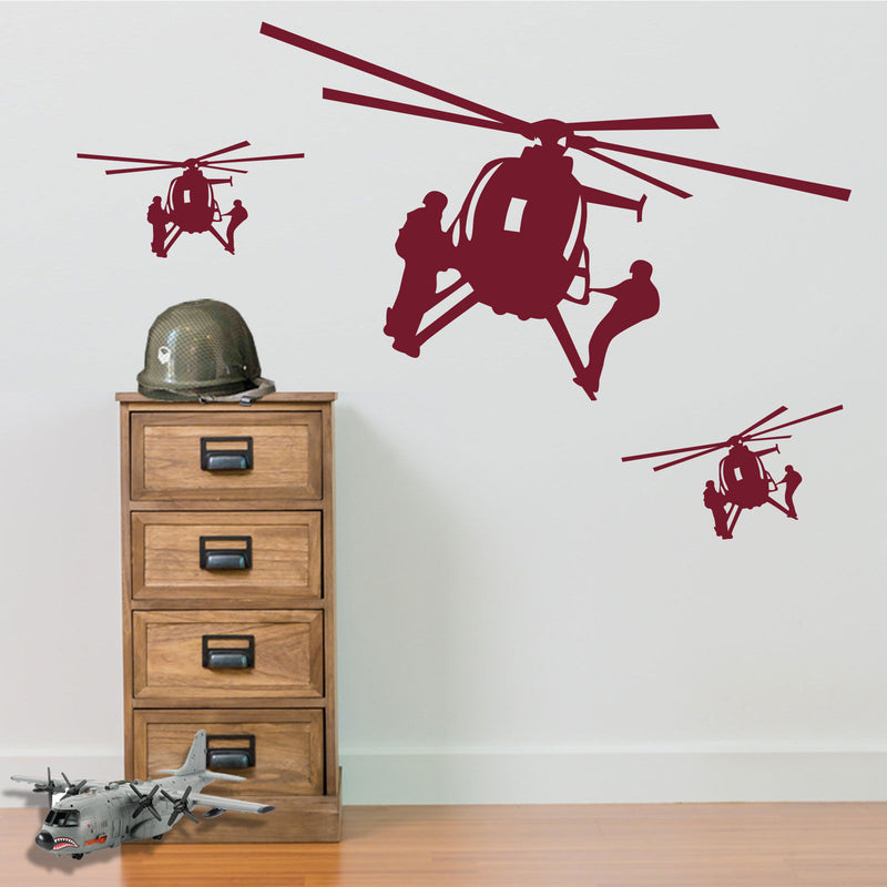 Military Helicopters Stickers