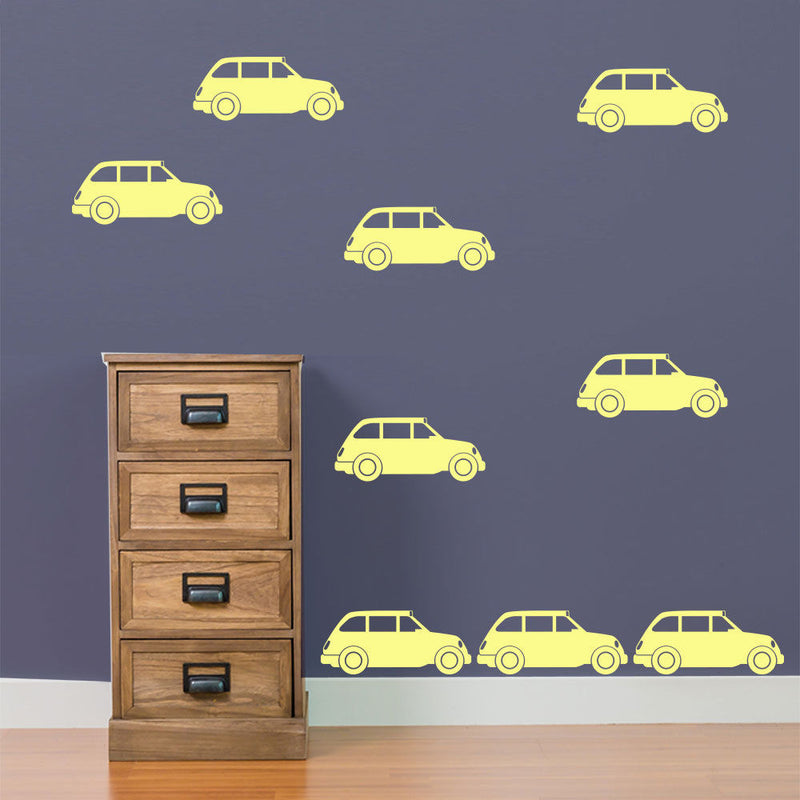 London Taxi Old Style Transport Pack 9 Children Street Wall Stickers Decals B9