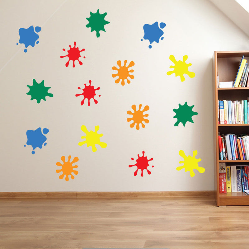 Paint Blobs Wall Stickers Colorful A26