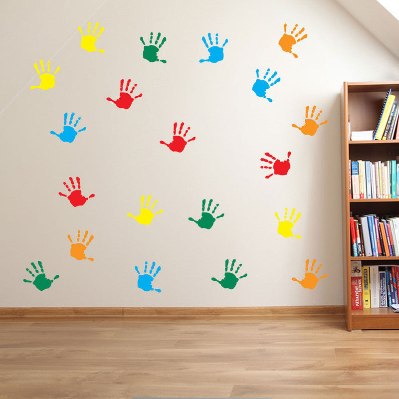 Hand Print Nursery Playroom Stickers A25