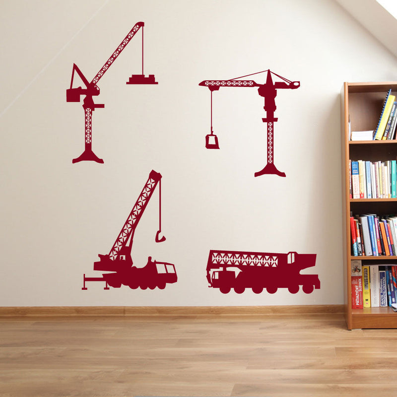 Cranes Construction Building Wall Stickers A59