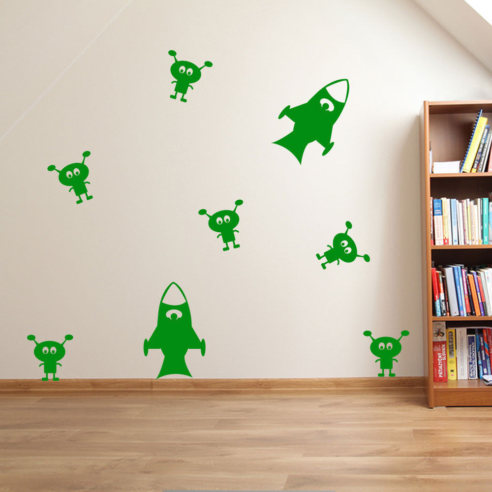 Rockets and Aliens Wall Stickers A31