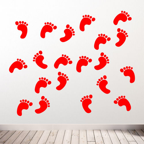 Footprint Wall Stickers A62