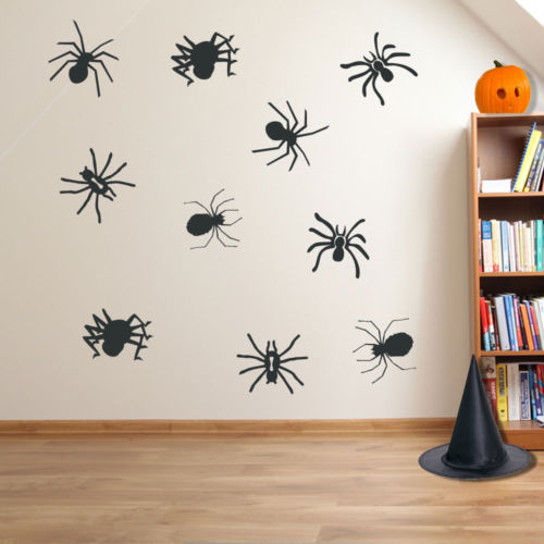 Halloween Spiders Spooky Party Creepy Window and Wall Stickers Decorations A118