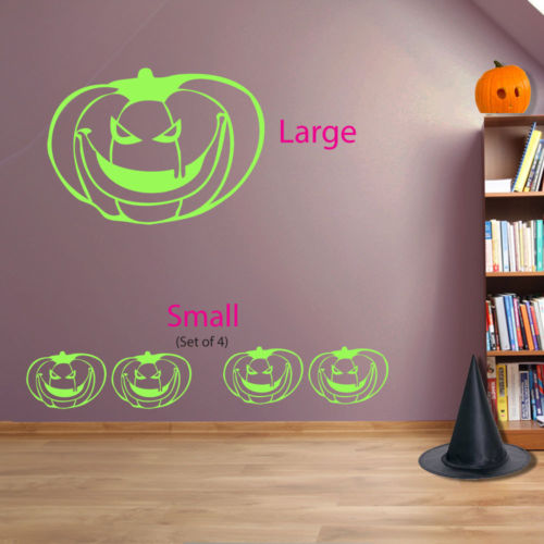 Halloween Pumpkins Spooky Party Creepy Window and Wall Stickers Decorations A116