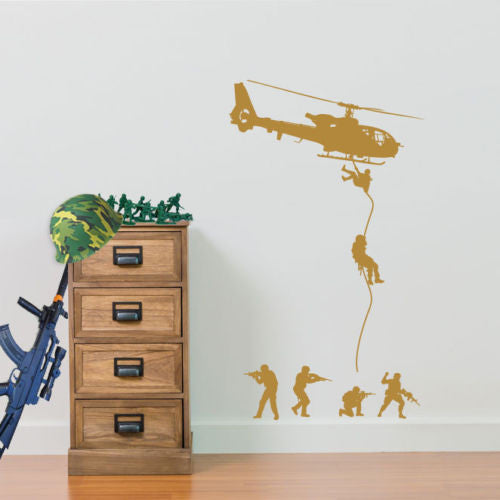 Military Helicopters Soldiers A40