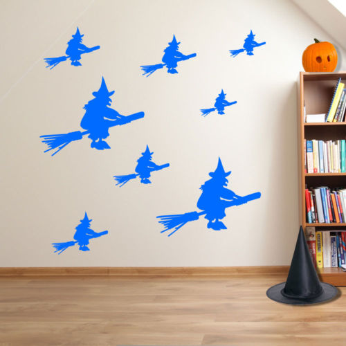 Halloween Witches Spooky Party Creepy Window and Wall Stickers Decorations A115