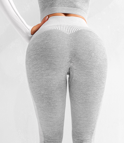 Cream Seamless Leggings - GREY