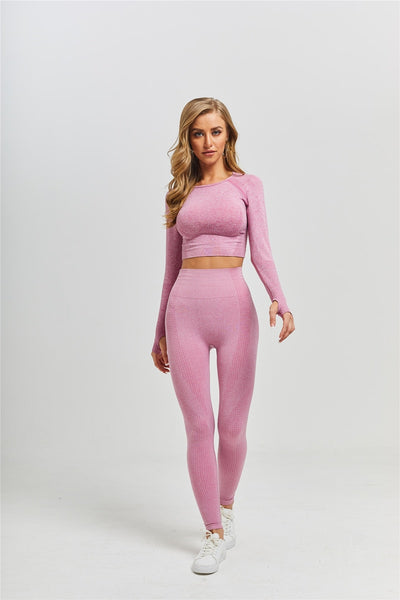 Long Sleeve SEAMLESS BRA & LEGGINGS SET