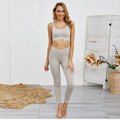 FLEX BRA & LEGGINGS SETS - BEIGE