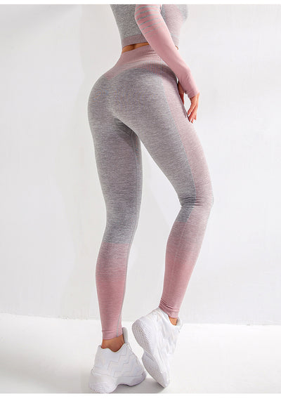Cream Seamless Leggings - PINK