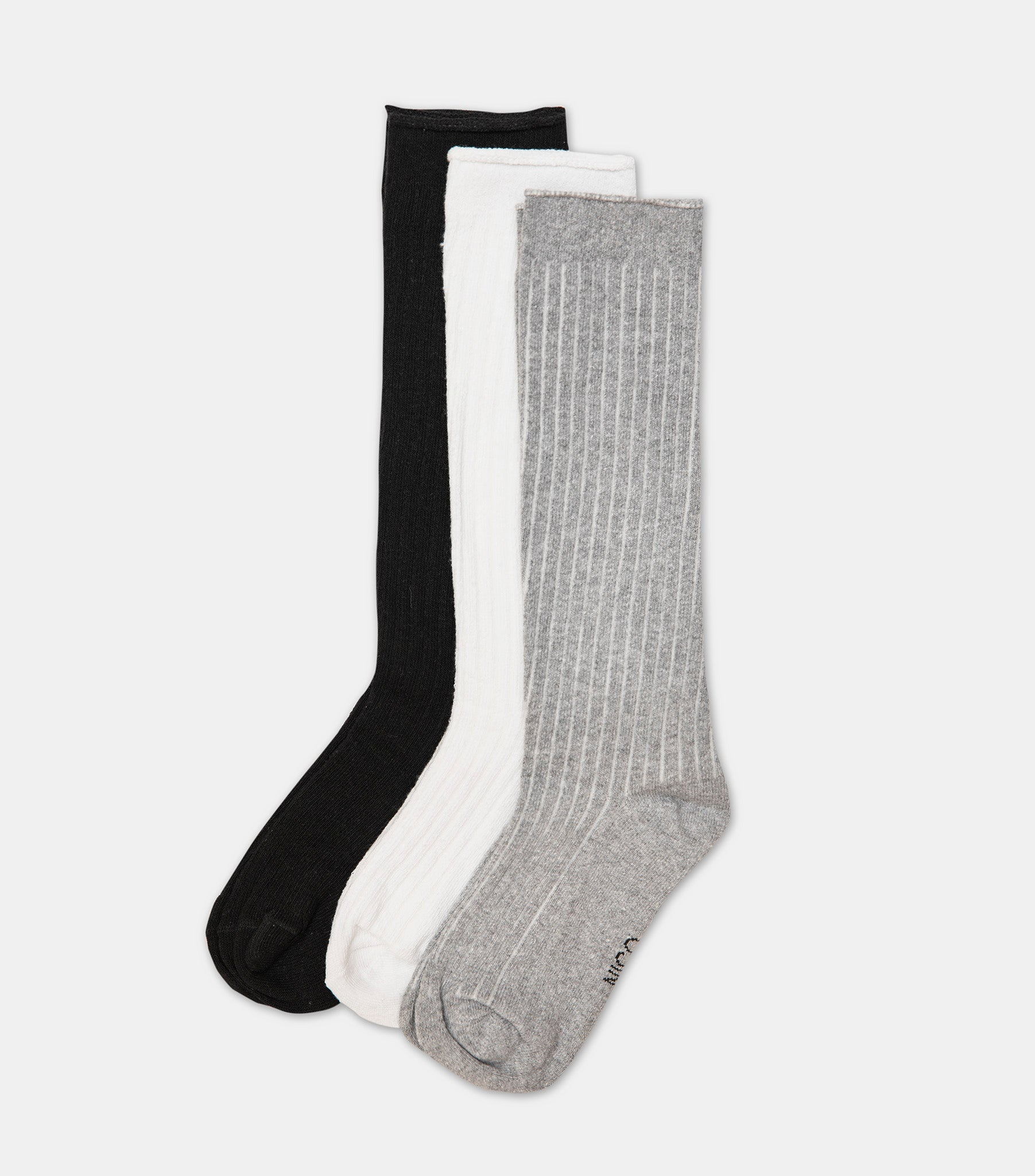 c3741ea23bf Recycled Cotton Long Socks - Mixed 3 Pack - NICO