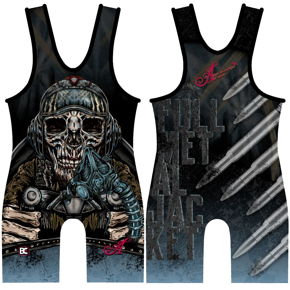 Made 4 U Full Metal Jacket Wrestling Singlet