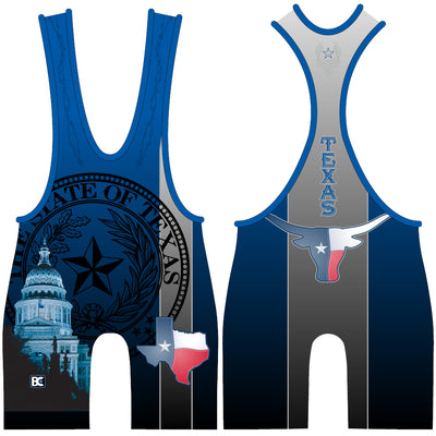 Made 4 U Texas Longhorn Blue Singlet