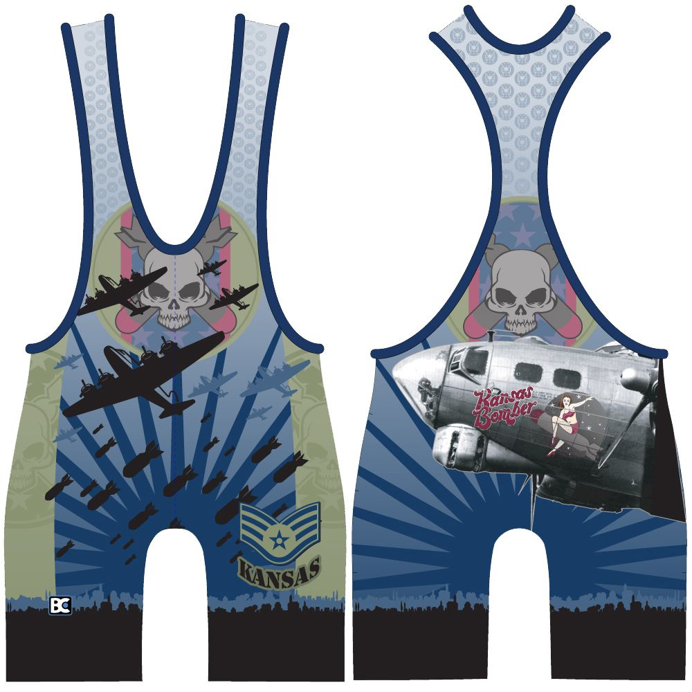 Made 4 U Kansas Bomber Wrestling Singlet
