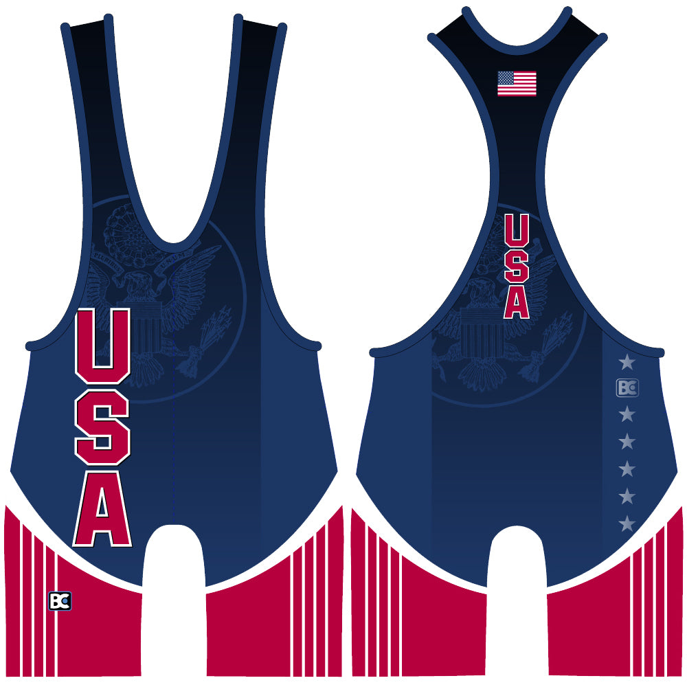 Made 4 U USA Original Wrestling Singlet