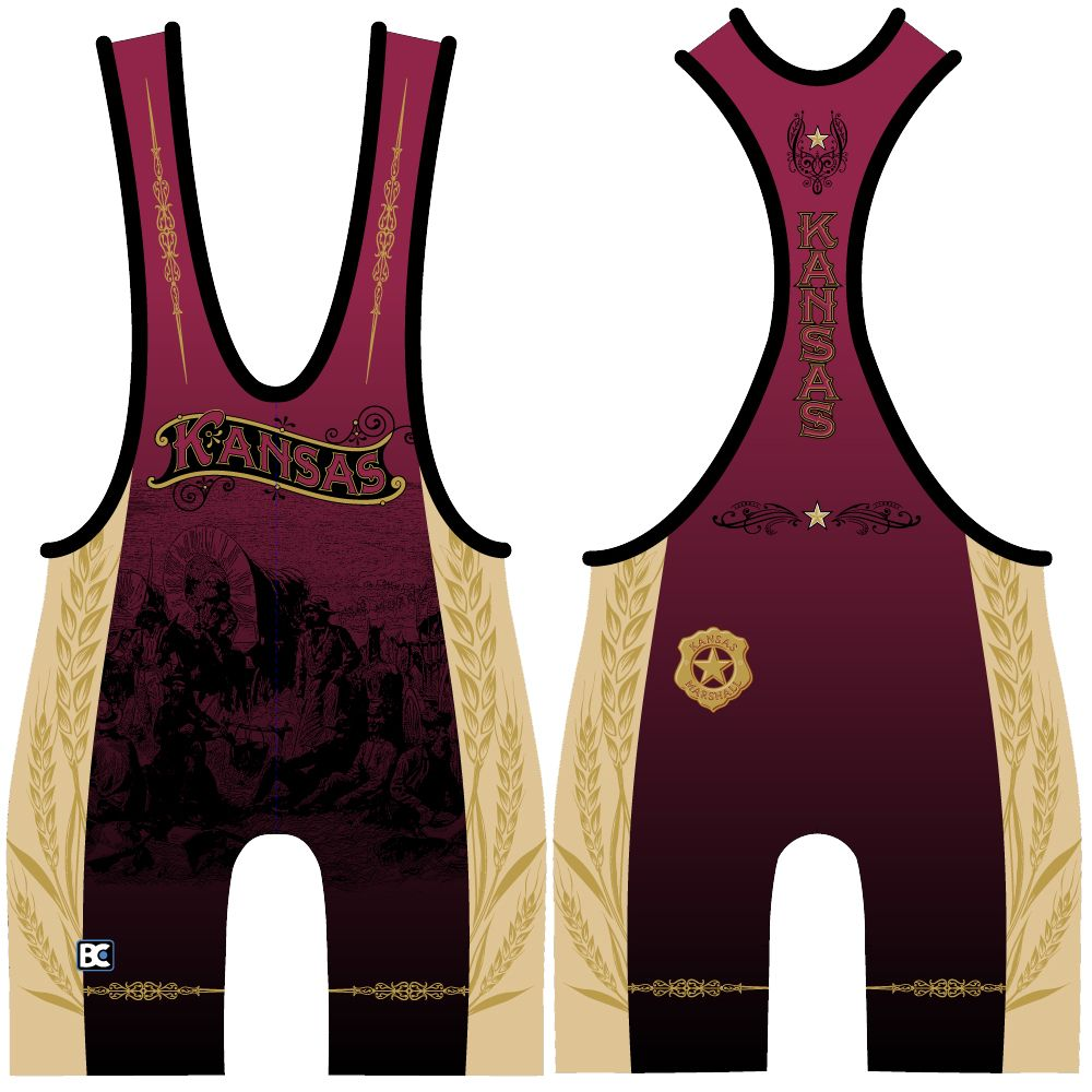Made 4 U Kansas Marshall Singlet