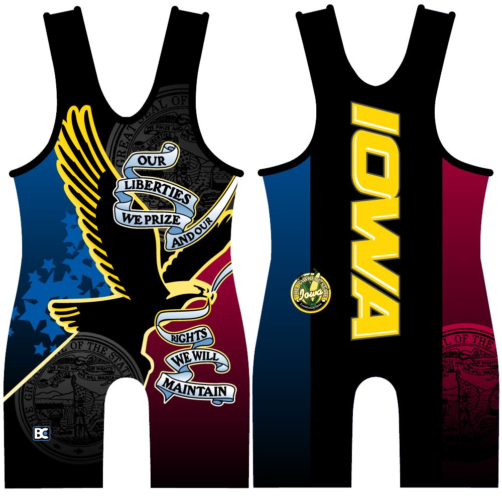 Made 4 U Hawk Liberties Wrestling Singlet