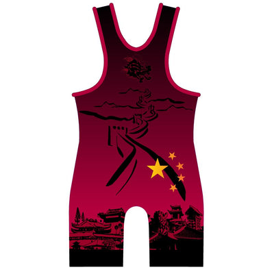 Made 4 U China Dragon Wrestling Singlet