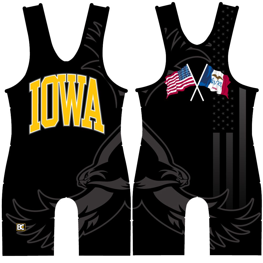 Made 4 U Iowa Blackhawk Singlet