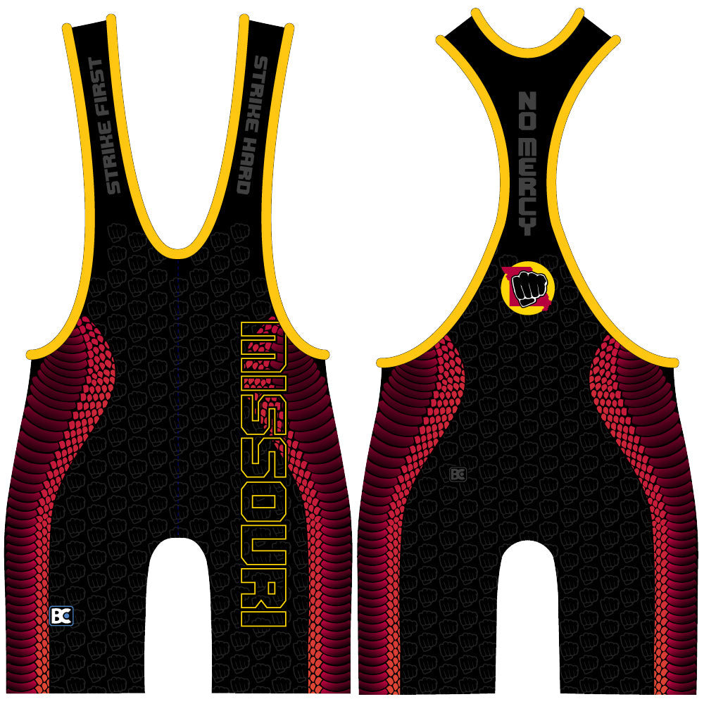Made 4 U Missouri Cobra Kai Wrestling Singlet