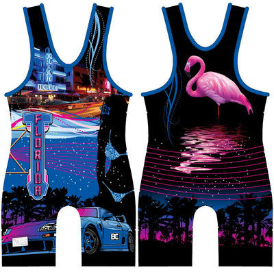 Made 4 U Florida Vice Wrestling Singlet