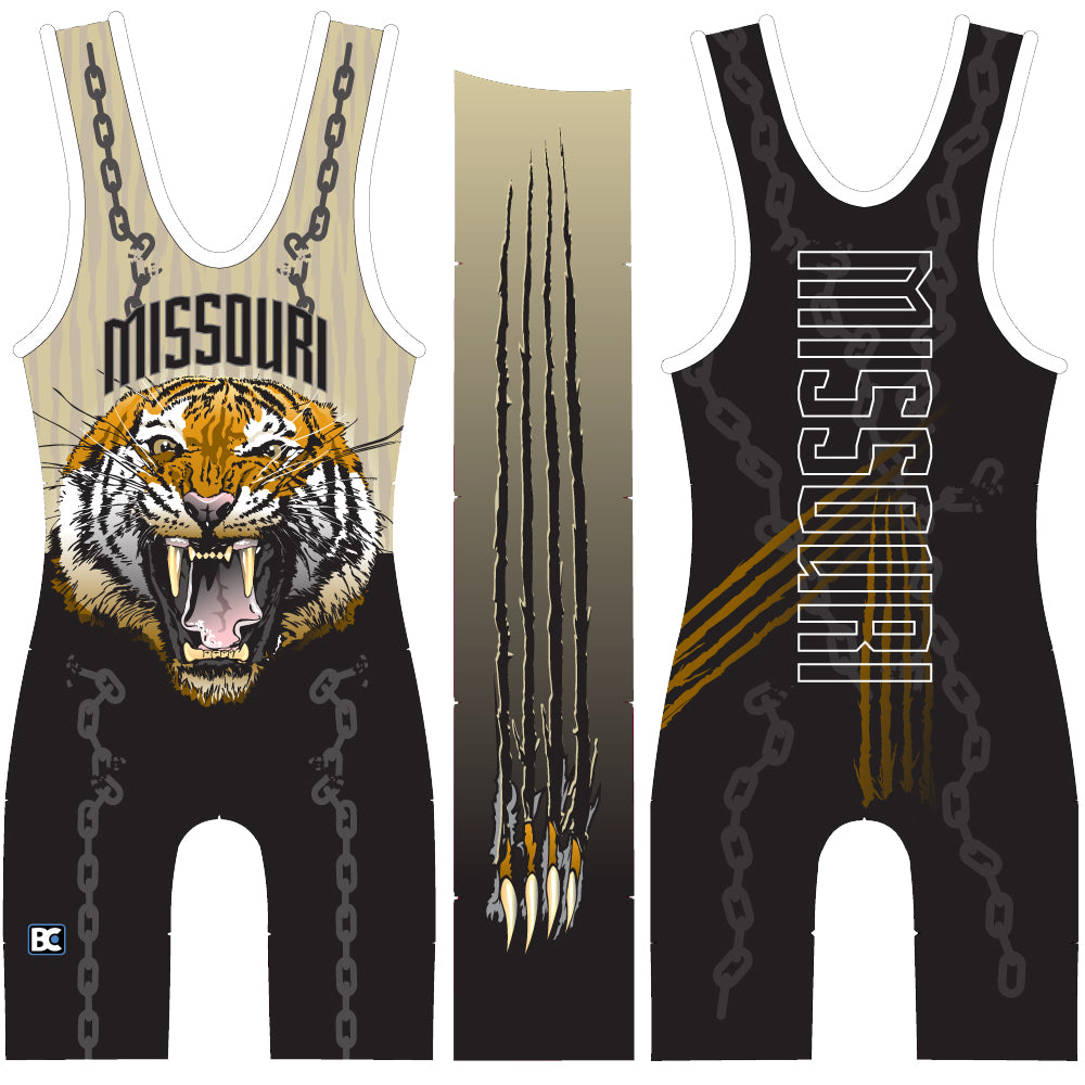Made 4 U Missouri Unleashed Wrestling Singlet