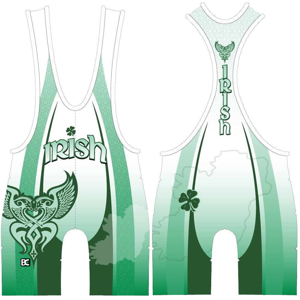 Made 4 U Lucky Irish (White) Wrestling Singlet