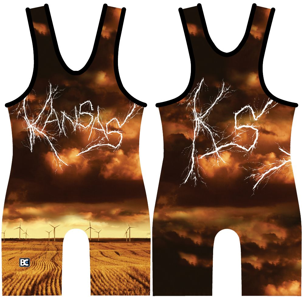 Made 4 U Kansas High Voltage Singlet