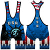 Made 4 U USA Liberty Wrestling Singlet