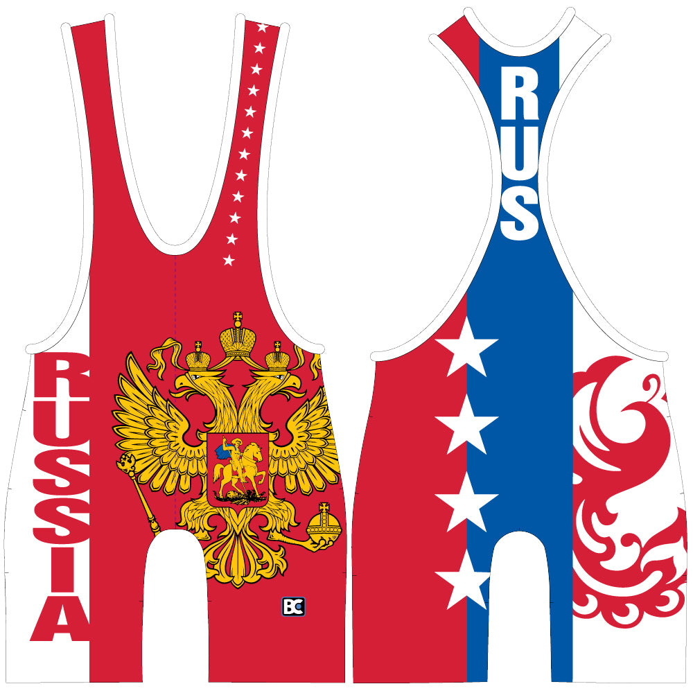 Made 4 U Russia Federation Wrestling Singlet