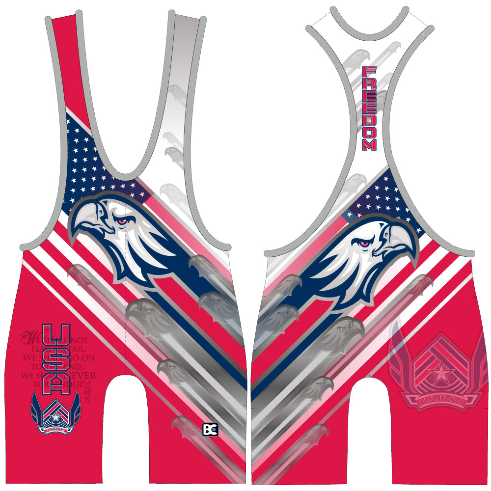 Made 4 U USA Freedom Wrestling Singlet