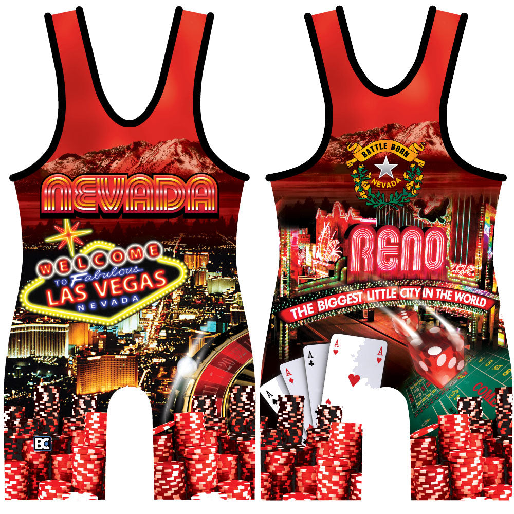 Made 4 U Nevada Wrestling Singlet