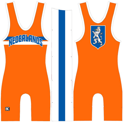 Made 4 U Nederlands Wrestling Singlet