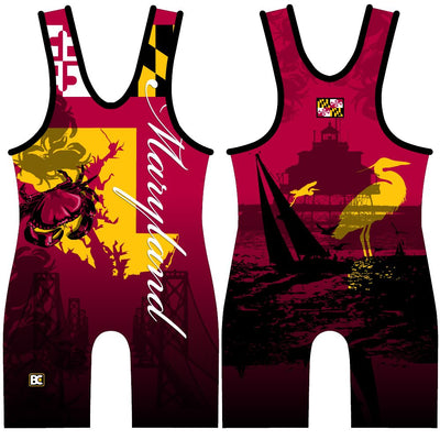 Made 4 U Maryland Wrestling Singlet