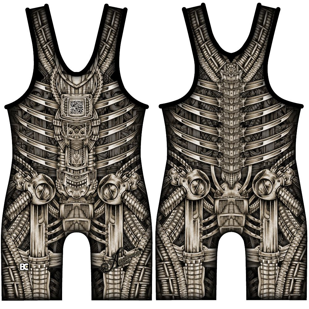 Made 4 U Bioman Wrestling Singlet