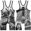 Made 4 U New York Burroughs Wrestling Singlet