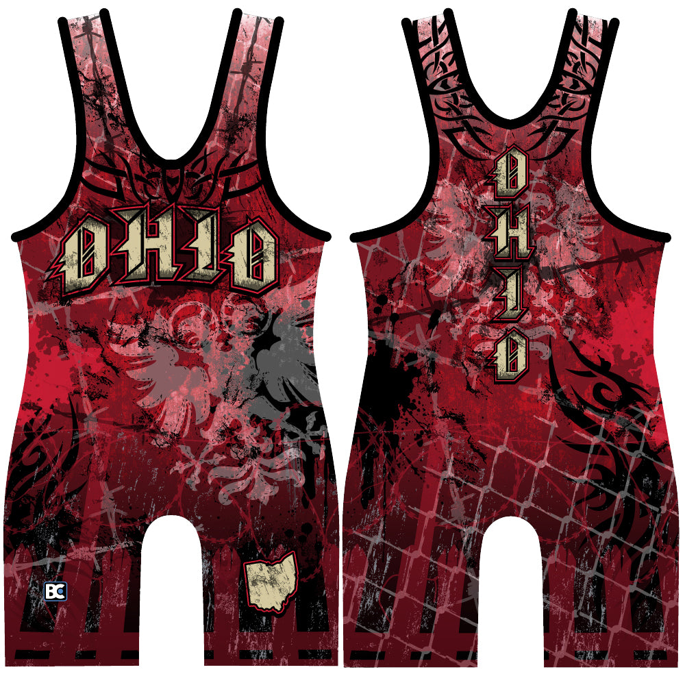 Made 4 U Ohio Chaos Wrestling Singlet
