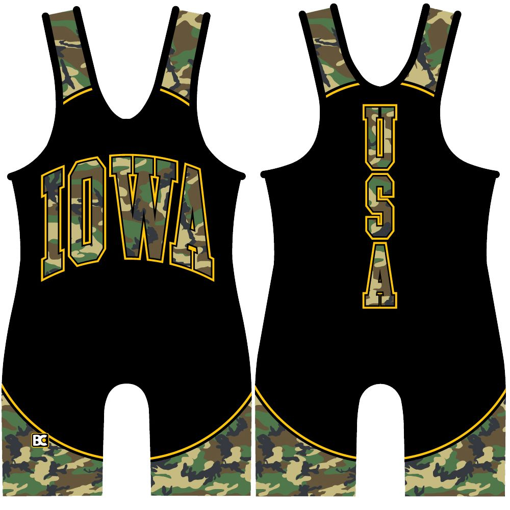 Made 4 U Iowa Hunter Wrestling Singlet