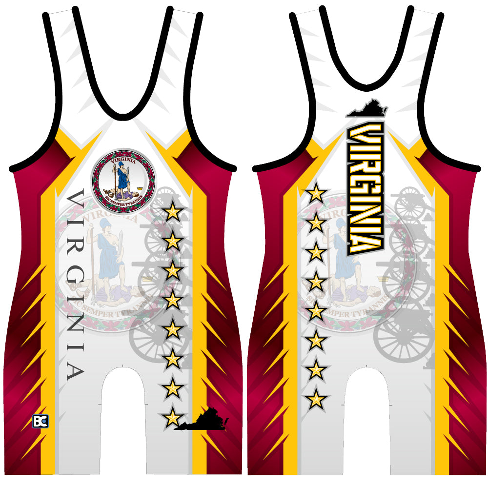 Made 4 U Virginia Revolutionary Wrestling Singlet