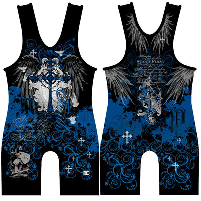 Blue Faith Wrestling Singlet