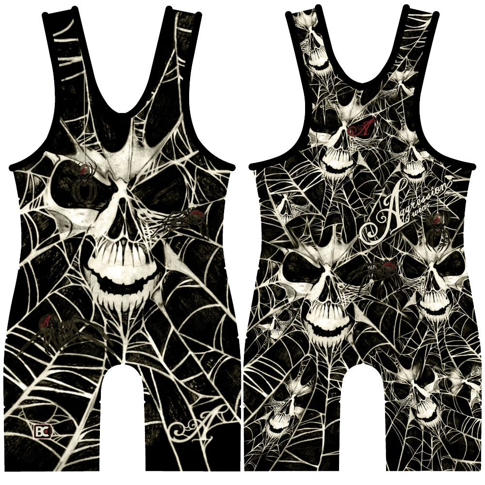 Made 4 U Black Widow Wrestling Singlet