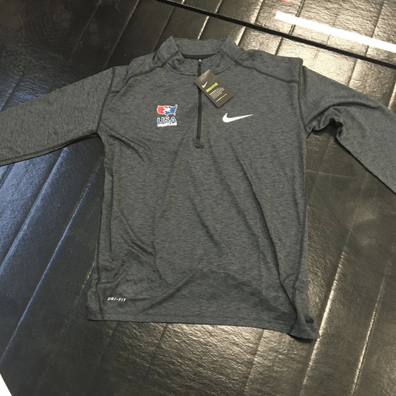 Nike USA Wrestling Half Zip (Black)