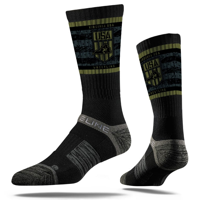 2019-20 Virginia USA Wrestling Sublimated Performance Socks