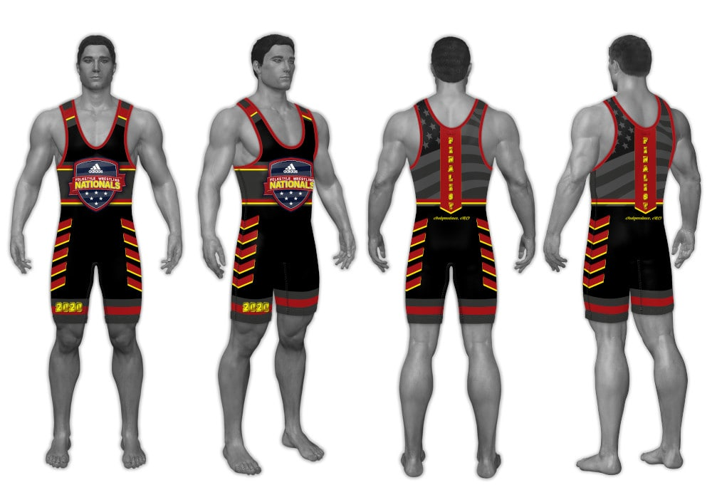 2020 Adidas Nationals Men's Singlet (Red)